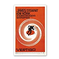 Suuyar ポスター映画Vertigowallポスター、レトロフィルムシルクファブリックアート印刷、James Stewart Kimnovakポスター-50X70Cmフレームなし