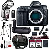 Canon EOS 5D Mark IV Digital SLR Camera Bundle (Body Only) + Prime Accessory Bundle (20 Items)