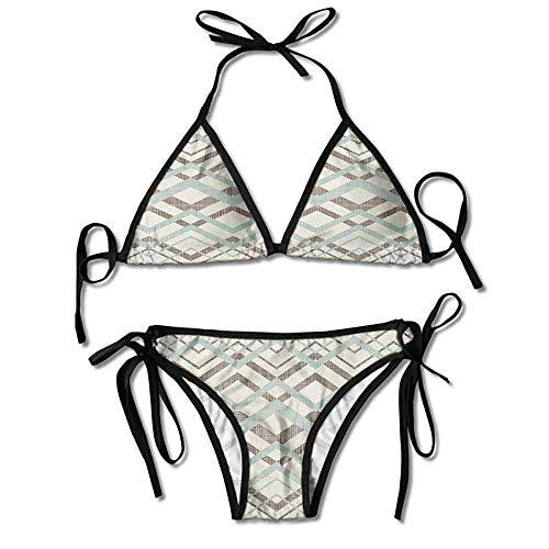 Sdltkhy Baden-Bikini-Set für Frauen, handgezeichneter Zoo-Bikini 2 Teile