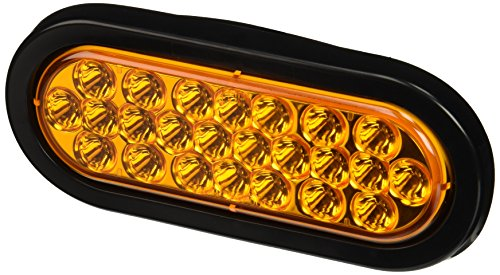 Buyers Products SL65AO 6 Inch Oval LED Recessed Strobe Light, Amber