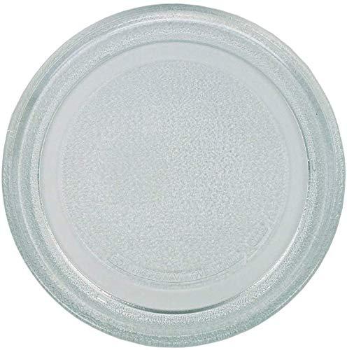 Drehteller für Mikrowelle 245 cm Mikrowellenteller 24,5 mm Glasteller Drehteller Ersatz Teller Glasplatte Glasdrehteller für Mikrowellen