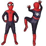 Toysskyr - Disfraz de superhéroe para niños, disfraz de Spider-Man, disfraz elástico para videojuegos, disfraz para adultos, niños y mujeres (color: negro, tamaño: S)