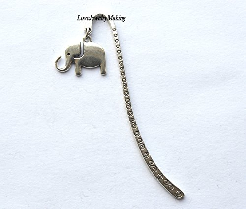 silver elephant bookmark silver bookmark bookmark elephant gift for reader silver accessory small gift for women