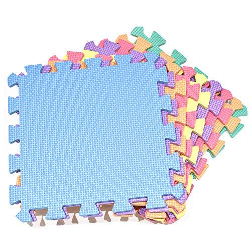 M.Y Interlocking Foam Spielmatten - Dicke, mehrfarbige weiche Eva Baby Bodenfliesen Puzzle Matte