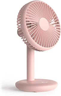 Mini USB Desk Fan Rechargeable Silent Fan with 65 ° Adjustment and Removable Front Cover, Battery + USB Dual Power Supply ...