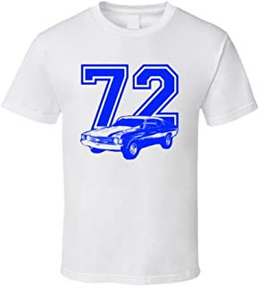 1972 Chevelle Fadded Look Side View Royal Blue Graphic Year Light Color Shirt