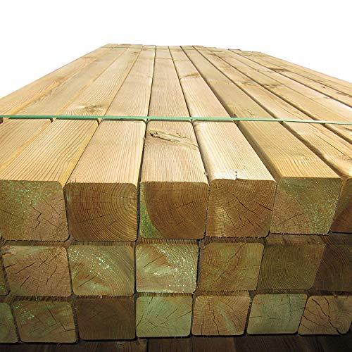 10 Stück Holzpfosten 9x9 cm Länge 240 cm Kantholz-Pfosten mit Kopf gekappt