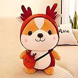 YITAQI Squirrel Doll,Cute Birthday Gift Children's Doll Send Female Animal Bee Shiba Inu Plush Toy Corgi Chai Pillow Plush Toy(Brown)