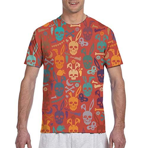 Zhgrong Men Tee Shirts Easter Eggs Short Sleeve T-Shirts Crew Neck T Shirt