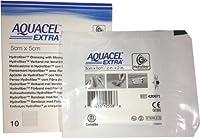 New and Improved AQUACEL EXTRA Hydrofiber dressing 2 x 2 (Box of 10 dressings) by Aquacel