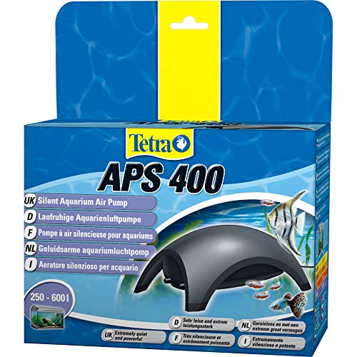 Tetra APS 400 Aquarium Luftpumpe - leise Membranpumpe für Aquarien von 250-600 L, schwarz