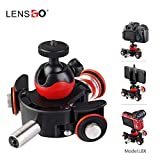 LENSGO Camera Autodolly Electric Track Slider Motorized Camera Cine Dollies Pulley Car Rolling Skater with 6 Speeds Wireless Remote for DLSR Camera Video Camcorder Smart Phone iPhone Gopro Canon