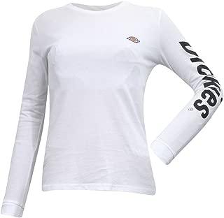 Juniors/Women's Logo Crew Neck Long Sleeve Cotton T-Shirt