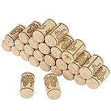 Tappi in sughero di vino e già tagliato Sughero per vino rosso naturale tappo in sughero naturale, tappi di sughero per vino Sughero di ricambio Confezione da 100 pezzi per vino