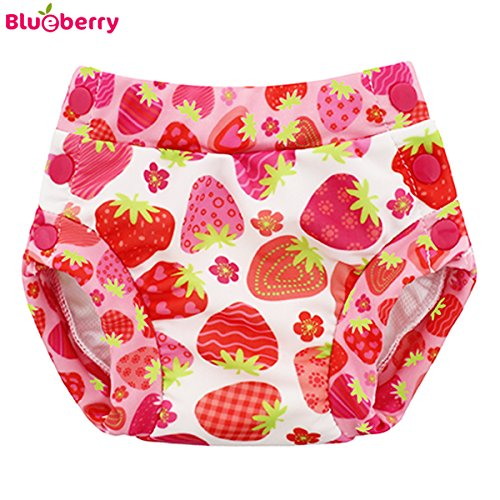 Blueberry Freestyle 2.0 Schwimmwindel - Strawberries Größe S (3,5-7 kg)