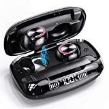 Wireless Earbuds, GUSGU Bluetooth 5.0 in Ear Headphones with Wireless Charging Case Digital Intelligence LED Display IPX7 Waterproof Earphones Built-in Mic Headset with Deep Bass for Sports