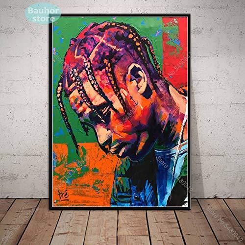 Travis Scott Musik Star Rap Rapper Rodeo Astroworld Album Poster Wandkunst Bild Drucke Leinwand Malerei Für Home Room Decor 50x70 cm Ungerahmt