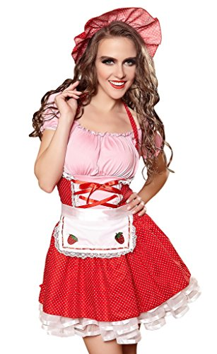 Bigood Cosplay Costume Maid Déguisement Adulte Halloween M