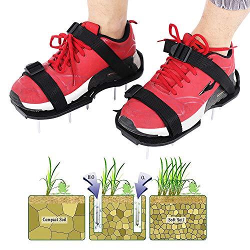 WESE Los Zapatos aireados para césped, Zapatos para Clavos de Hierba Buena dureza para Patios para Jardines para céspedes