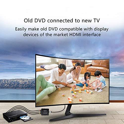 AV vers HDMI Convertisseur, Keyixing RCA Composite CVBS AV to HDMI Converter Audio Vidéo Convertisseur Adaptateur Mini Box Support 1080P for PC/TV/PS3/Blu-Ray DVD