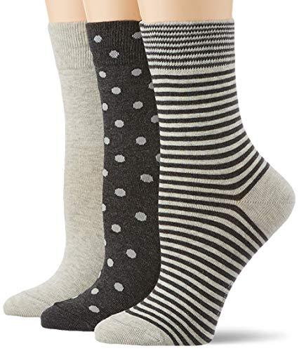 ESPRIT Damen Fashion Easy 3-Pack Socken, mehrfarbig (sortiment 0010), Einheitsgröße (DE 36-41) (3er Pack)