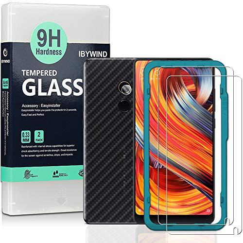 Ibywind Panzerglasfolie für Mi Mix 2 [2 Stück] - Japanische 9H Panzerglas Folie, HD Bildschirmschutzfolie, Tempered Glas Schutzglas, Handy Hartglas Schutzfolie mit Applikator für die Installation