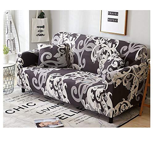 ZIXING Fashion Sofabezug Blumen-Muster Sofaüberwürfe für Sofa Stretch elastische Sofahusse Sofa Abdeckung mit Rutschfester Unterseite 33