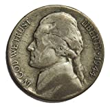 1944 D Wartime Silver Nickel 5¢ Circulated