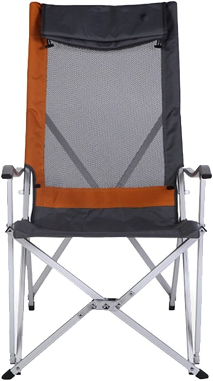 Stool Folding Chair Ergonomics Portable Sturdy Black Lounge Deck Chair for Fishing Camping