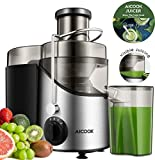 Juicer Juicer, Aicook Large Mouth Fruit and Vegetable Juicer, With Non-slip Feet, 3 Speed ??Settings, BPA Free