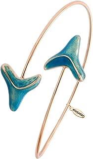 Double Shark Tooth Wrap Bracelet Arrow Bangle Bracelet Glowing in The Dark