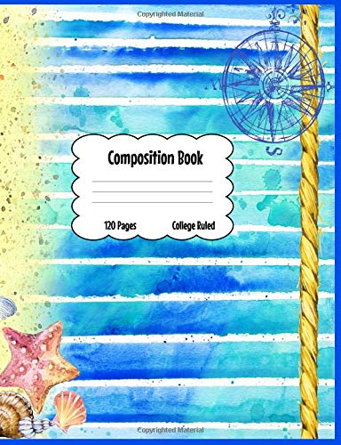 Composition Book: Home is Where the Beach Is Kick Back Take a Nap Easy Life Journal [Idioma Inglés]