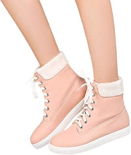 Hot Sales! NRUTUP Autumn And Winter Leisure Women's Flat Shoe Keep Warm Lace-UP Ladies Short Boot