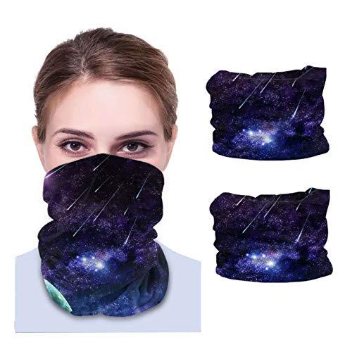 ZVEZVI Polaina de cuello Unisex de alta definición, tela lavable, pasamontañas reutilizables, protección UV, cubierta facial para viajar, caminar, 2 uds.