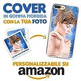 Cover Personalizzata Apple iPhone XR, Custodia Protezione Morbida Trasparente in TPU con la Tua Foto, Immagine o Scritta, Stampa Alta qualità con processo ad UV