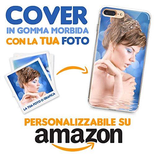 Cover Personalizzata Apple iPhone 7 Plus / 8 Plus, Custodia Protezione Morbida Trasparente in TPU con la Tua Foto, Immagine o Scritta, Stampa Alta qualità con processo ad UV