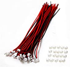 10 Sets Mini Micro ZH 1.5 2-Pin JST Connector with Wires Cables
