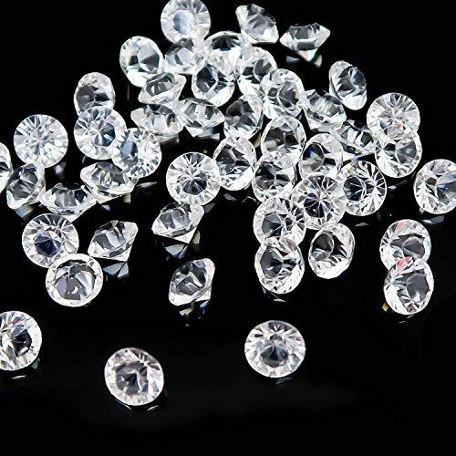 Gemas de Cristal Vaso,100 PCS Cristal Transparente Brillantes Diamantes Cristales de Dispersión de Mesa Deco Piedras para Bodas Rellenos Jarrones Ducha Nupcial DecoraciónFiesta Favor Manualidades 8mm