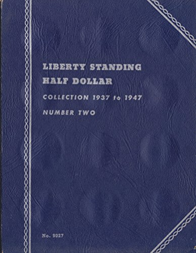 1937-1947-LIBERTY-WALKING-HALF-DOLLARS-NUMBER-TWO-USED-WHITMAN-No-9027-COIN-Album-Binder-Board-Book-Card-Collection-Folder-Holder-Page-Portfolio-Publication-Set-Volume