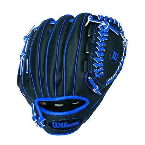 Wilson A200 10' Tee Ball Glove, Black/Blue - Right Hand Throw