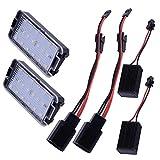 MuChangZi 2X 18SMD Led luz de matrícula para 99-05 S/Eat Leon 1M 04-09 Altea Arosa Cordoba MK1 MK2 Ibiza Toledo 5P Car-Styling