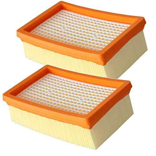 AMSAMOTION 2 filtros de Plisado Plano de Repuesto para Karcher MV4 MV5 MV6 WD4 WD5 WD6 Aspiradora en seco y húmedo - Reemplaza 2.863-005.0