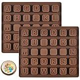 Molde antiadherente de silicona para magdalenas de 26 letras,...