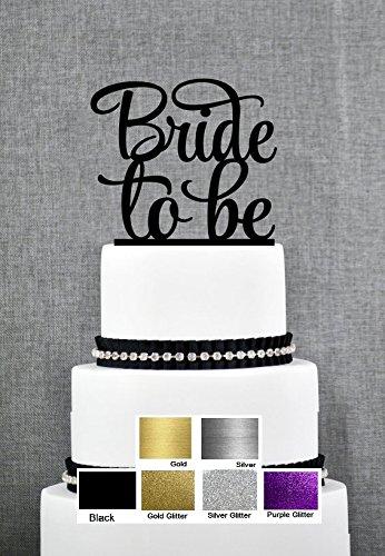 Bride to Be. Groom schlägt zu Seiner Braut Tortenaufsatz Hochzeit Verlobungsring Viele Farben Schwarz