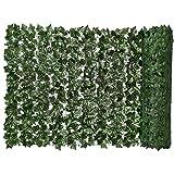 Ohomr Artificial Green Leaf Siepe, Faux Ivy recinto Privacy, Muro vegetale, Finto Sfondo Erba Decorativo per Esterna Giardino Balcone 0.5x1m