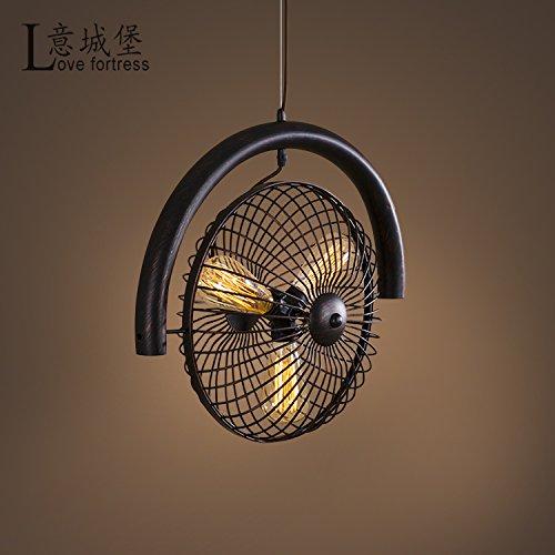 Osradmd American Style Retro Industrielle Beleuchtung Lampen, Restaurants, Bars, Studie, personalisierte Kreativ, Loft, Bügeleisen, Ventilator, Prozess, Kronleuchter, Kupfer