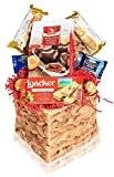 Valentine's Day Basket Snacks Chocolates Candy Filled Wrapped Variety...
