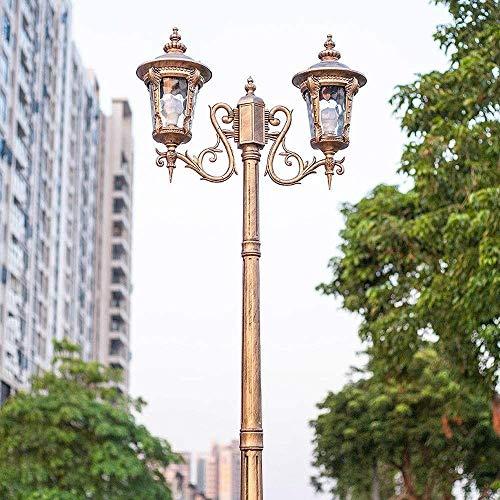 N / A Post Lantern Light, Victorian Garden Lamp Post Up Lantern Double Head Aluminium Antirust Patio Path Lighting Fixture E27 Antique Vintage Patio Garden Decoration Porch Column Pillar Light.