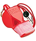 Fox 40 Classic CMG Whistle With Lanyard Referee-Coach, Safety Alert-Red
