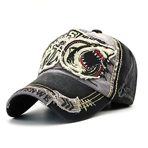 CXKNP Baseball Caps New Washed Baseball Cap Fitted Cap Snapback Hat for Men Bone Women Gorras Casual Casquette Embroidery Shark